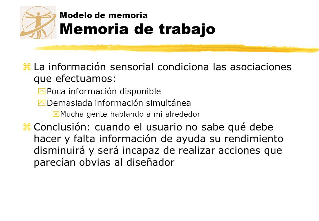 Modelo de memoria Memoria de trabajo