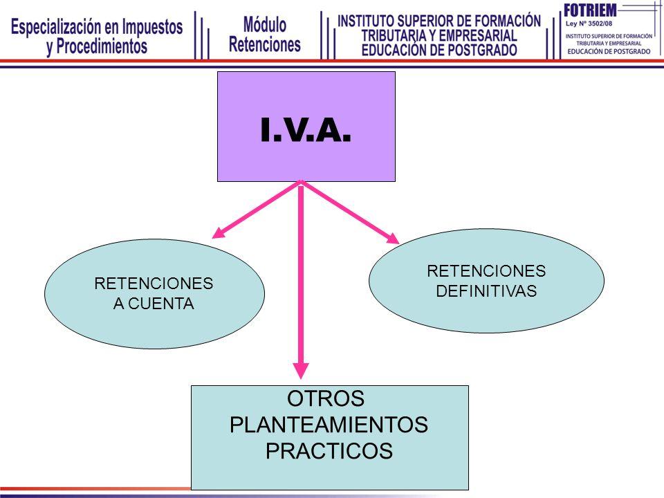 I.V.A. OTROS PLANTEAMIENTOS PRACTICOS RETENCIONES DEFINITIVAS