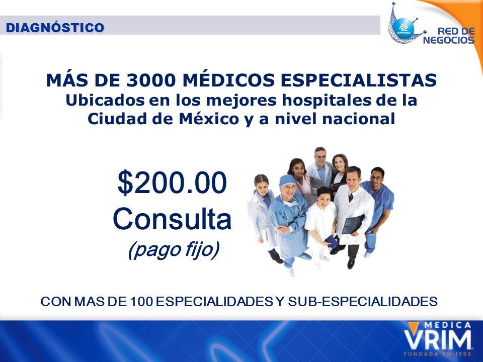 CON MAS DE 100 ESPECIALIDADES Y SUB-ESPECIALIDADES