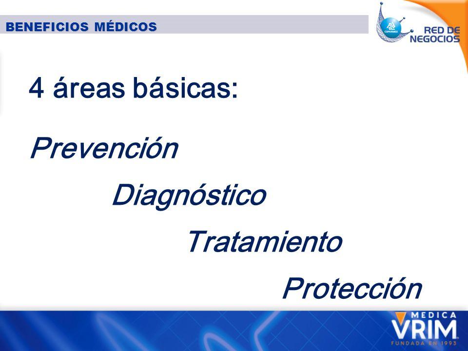 Prevención Diagnóstico Tratamiento Protección 4 áreas básicas: