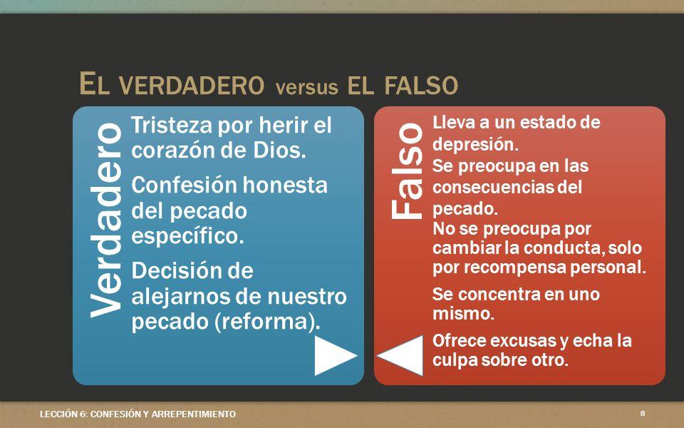 El verdadero versus el falso