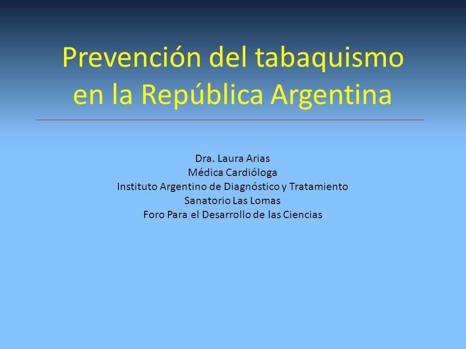 Prevención del tabaquismo en la República Argentina