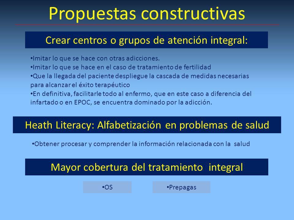 Propuestas constructivas