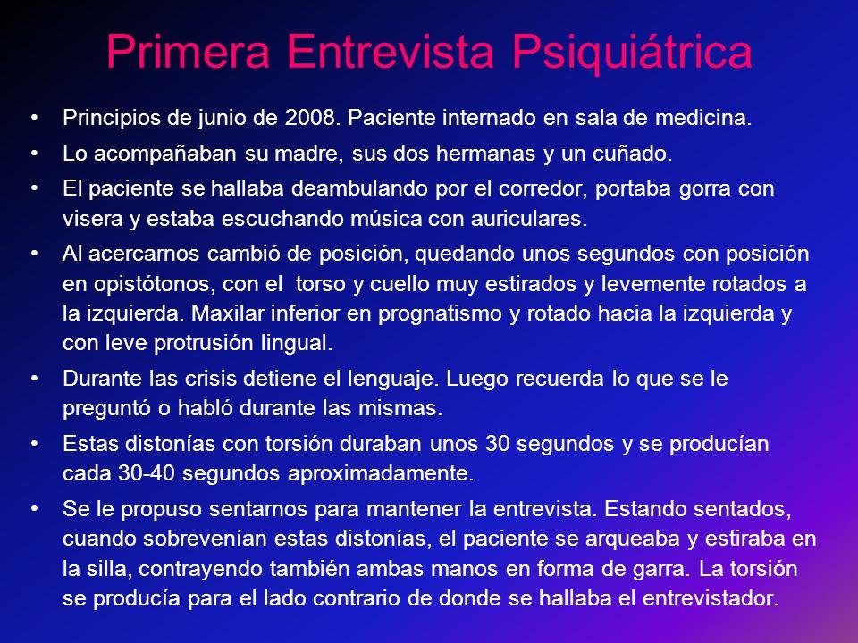 Primera Entrevista Psiquiátrica