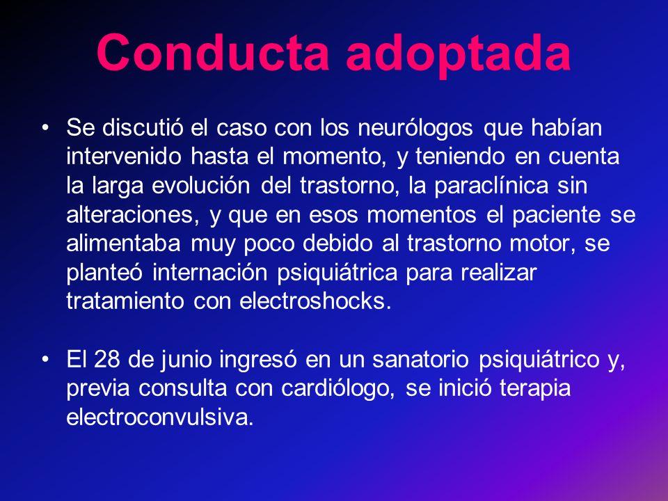Conducta adoptada