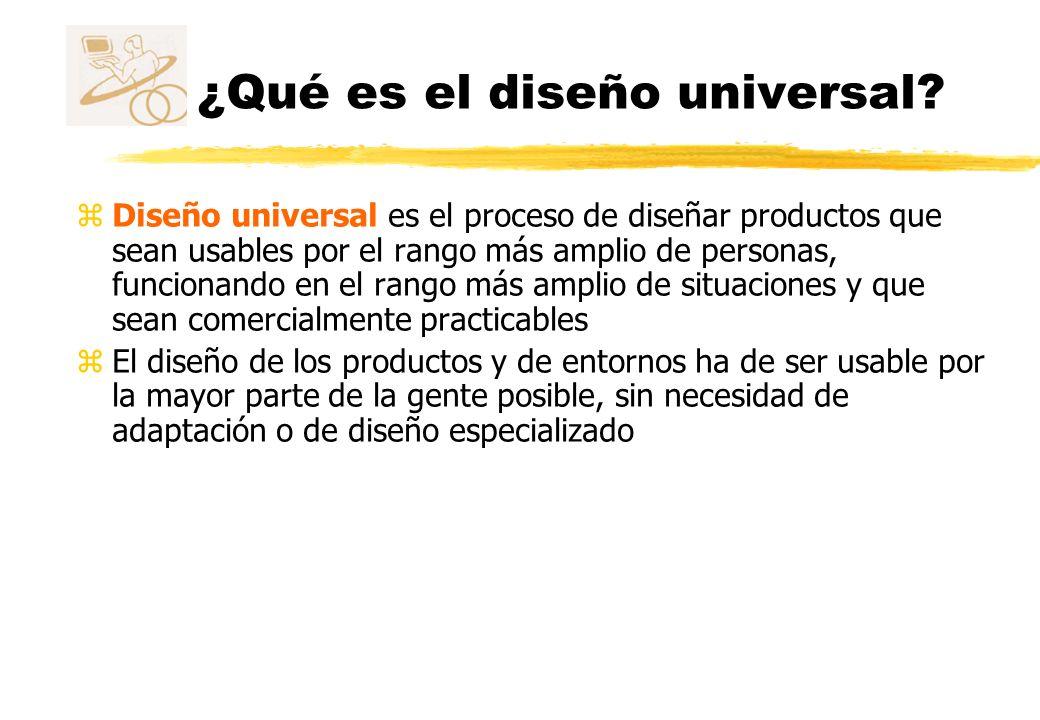 ¿Qué es el diseño universal