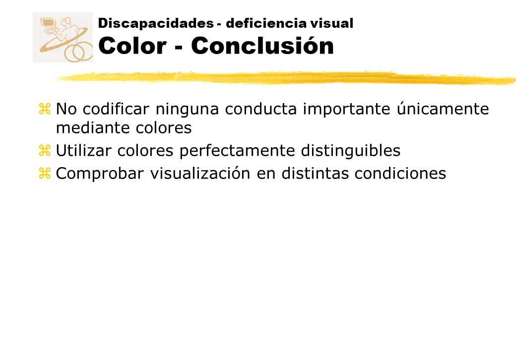 Discapacidades - deficiencia visual Color - Conclusión