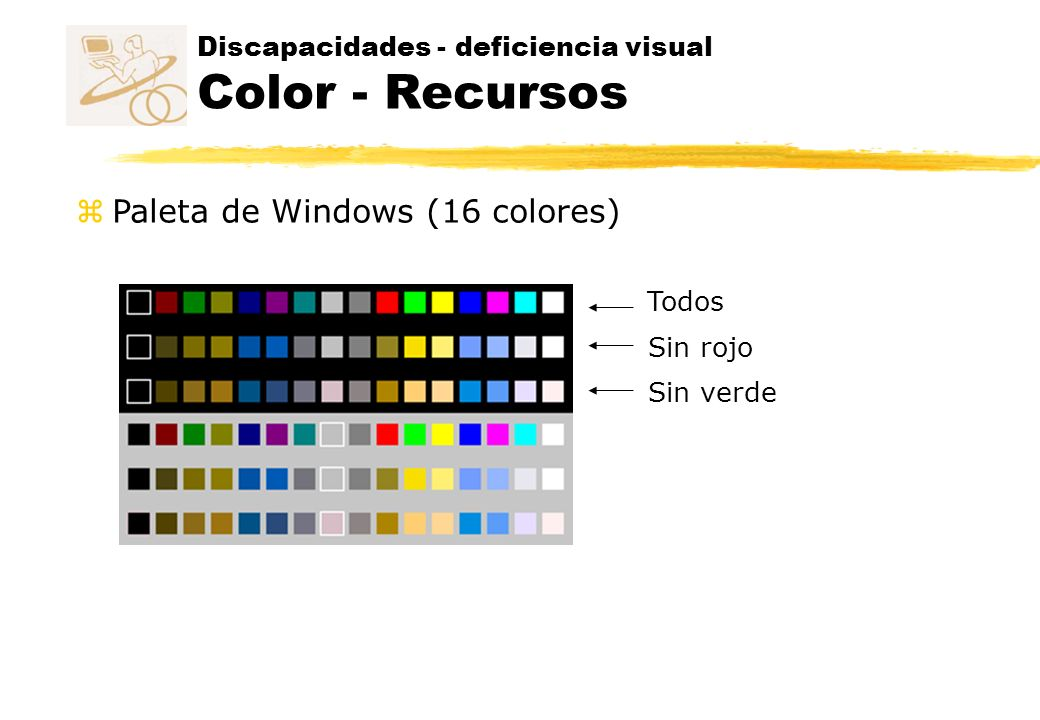 Discapacidades - deficiencia visual Color - Recursos