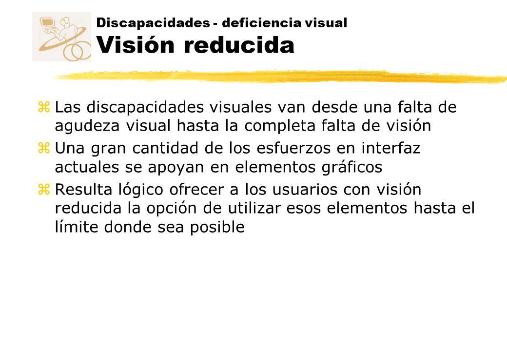 Discapacidades - deficiencia visual Visión reducida