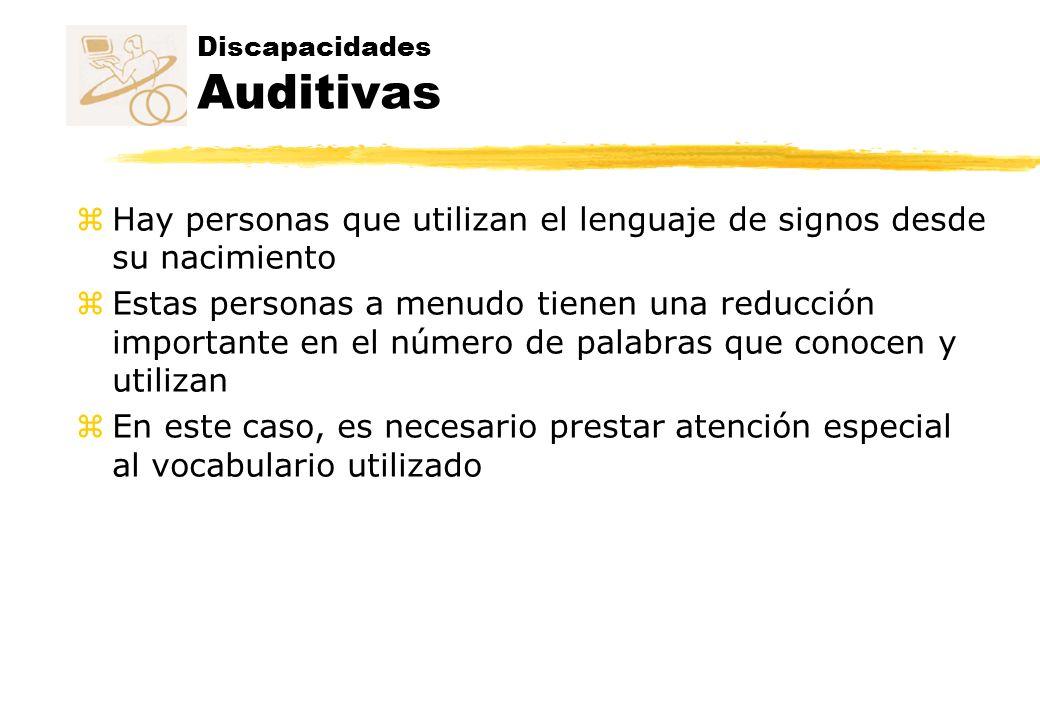 Discapacidades Auditivas