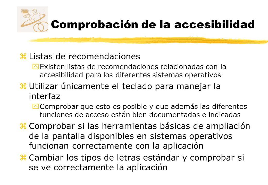 Comprobación de la accesibilidad