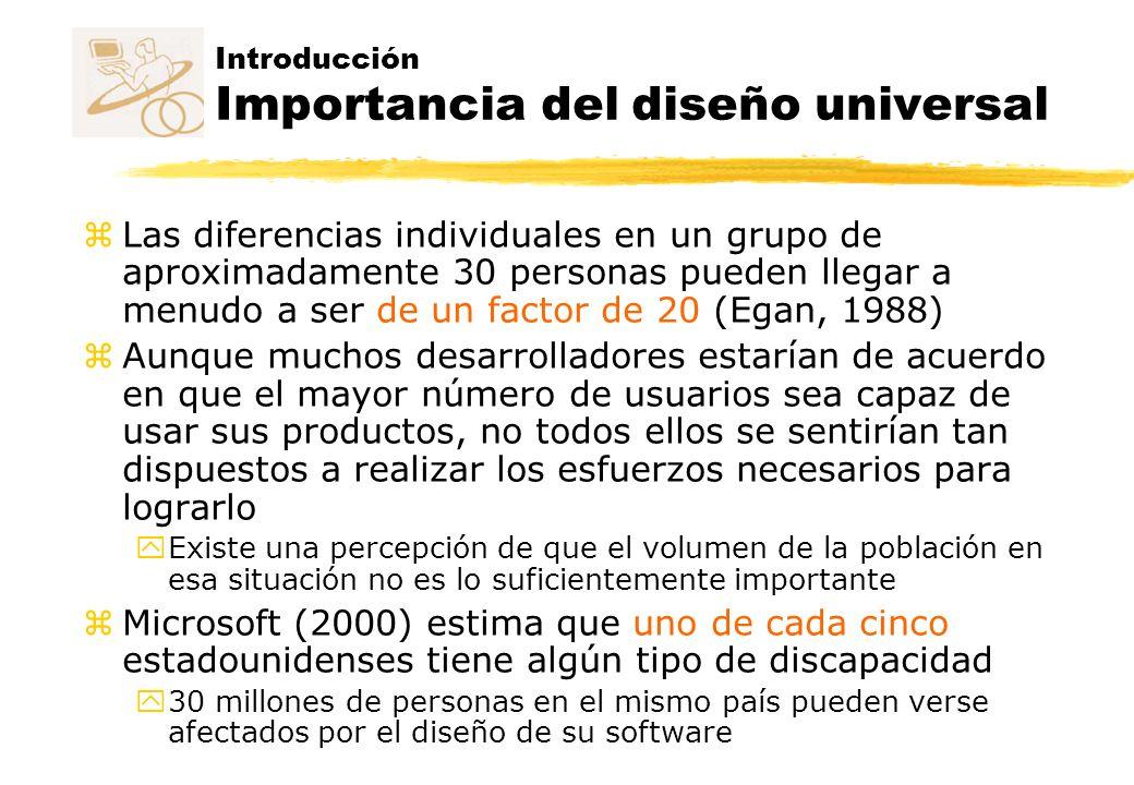 Introducción Importancia del diseño universal