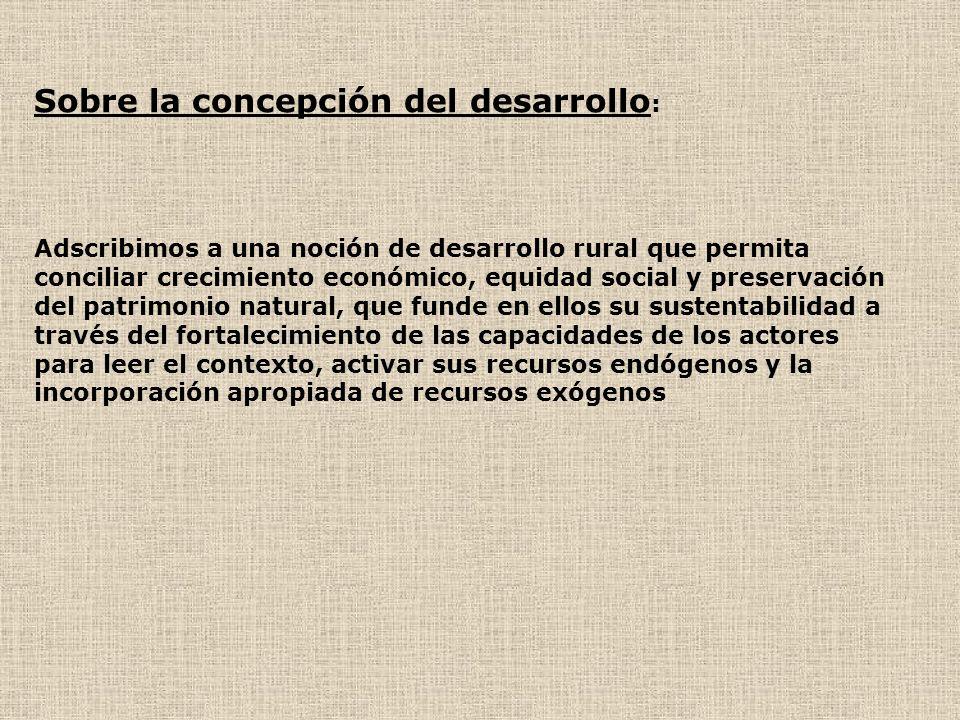 Sobre la concepción del desarrollo: