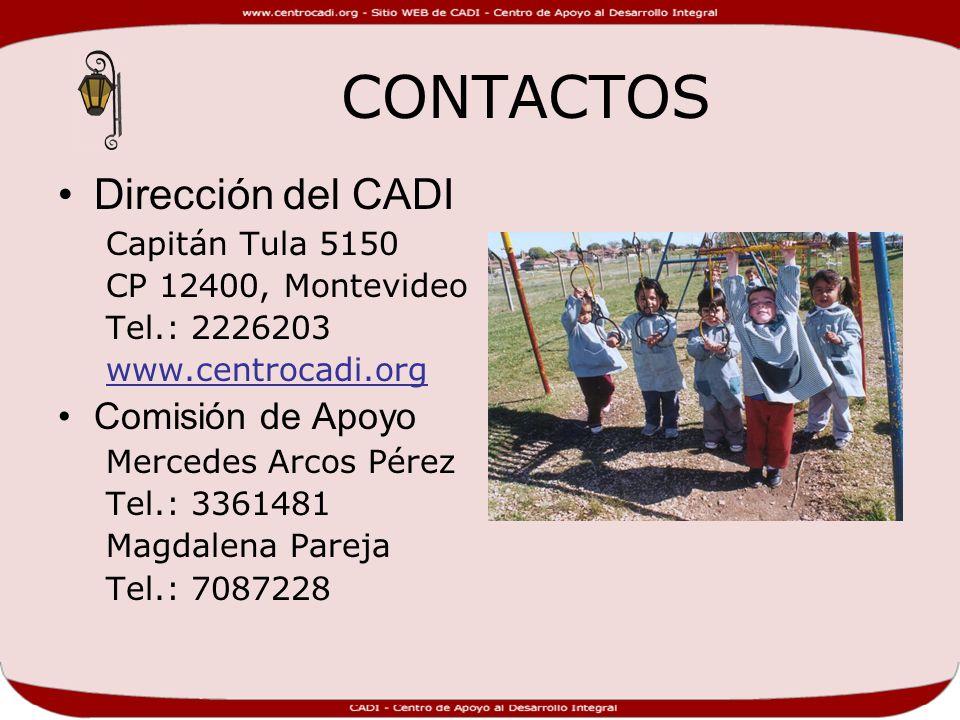 CONTACTOS Dirección del CADI Comisión de Apoyo Capitán Tula 5150