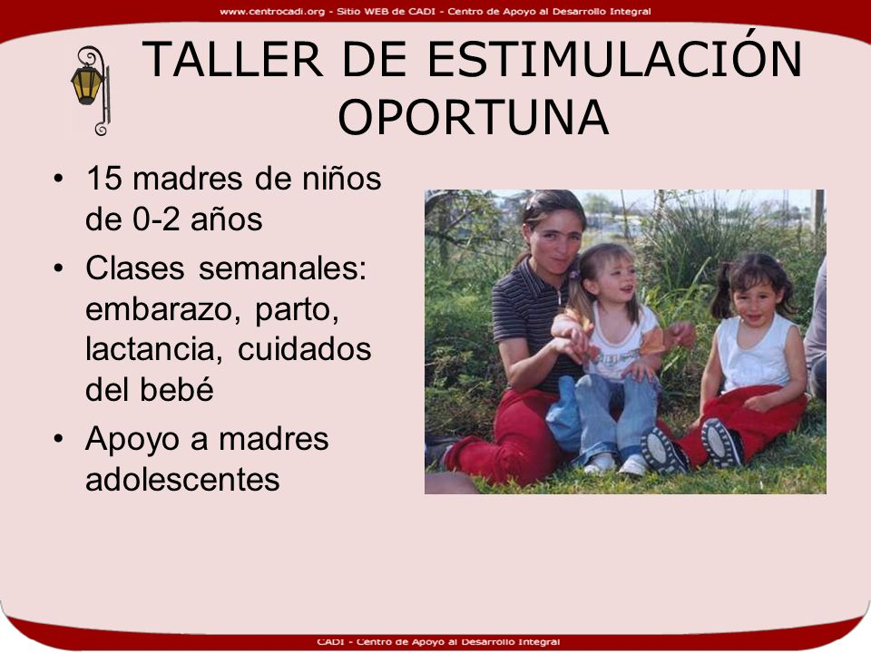 TALLER DE ESTIMULACIÓN OPORTUNA