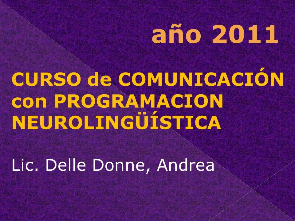 año 2011 CURSO de COMUNICACIÓN con PROGRAMACION NEUROLINGÜÍSTICA