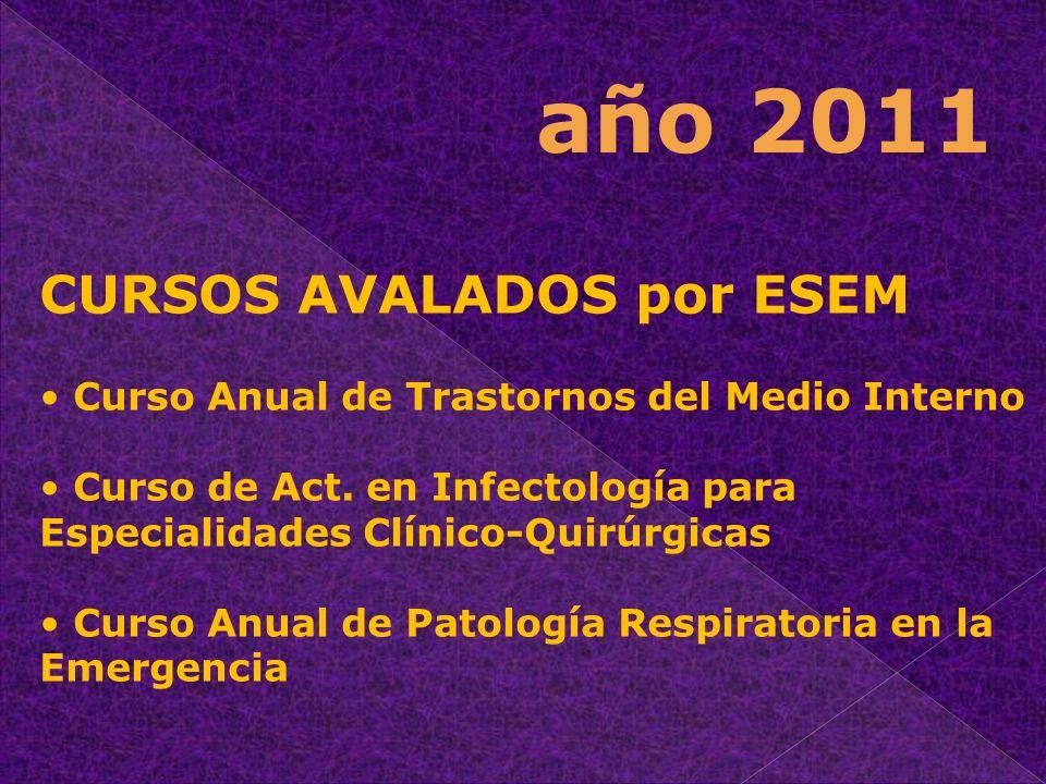 año 2011 CURSOS AVALADOS por ESEM