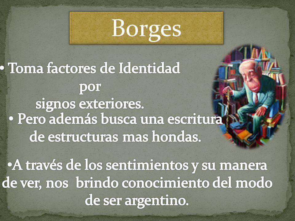 Borges Toma factores de Identidad por signos exteriores.