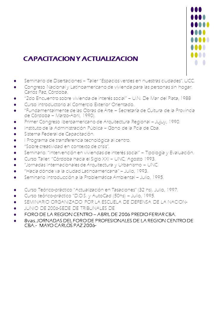 CAPACITACION Y ACTUALIZACION