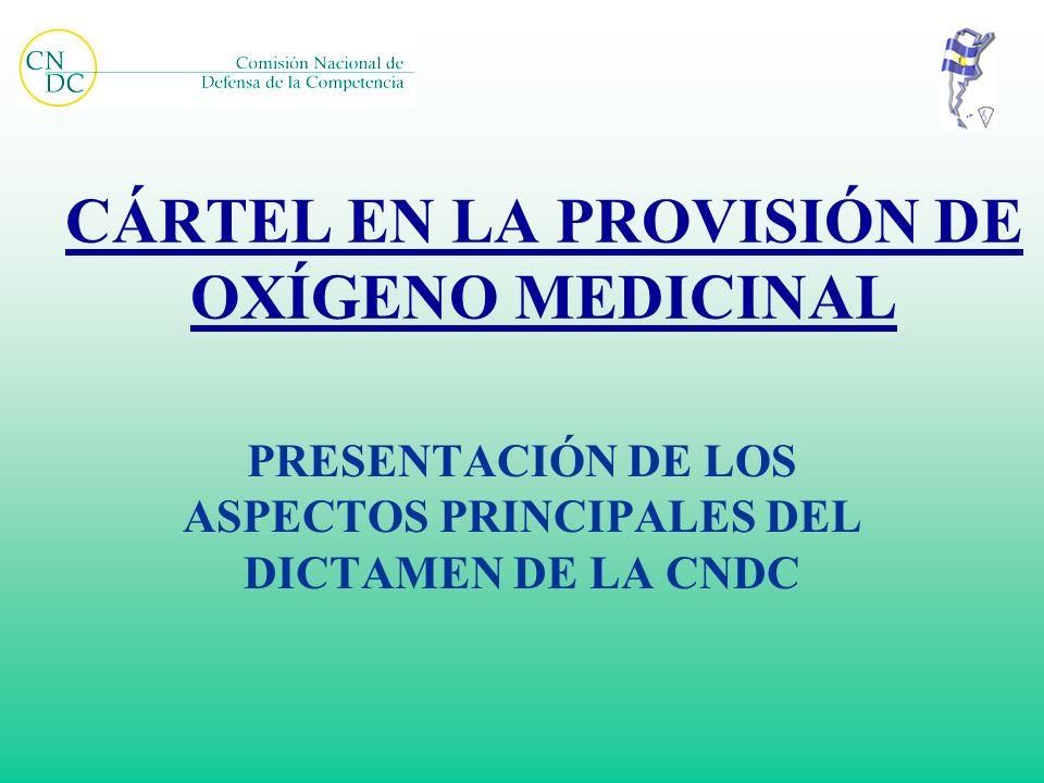CÁRTEL EN LA PROVISIÓN DE OXÍGENO MEDICINAL