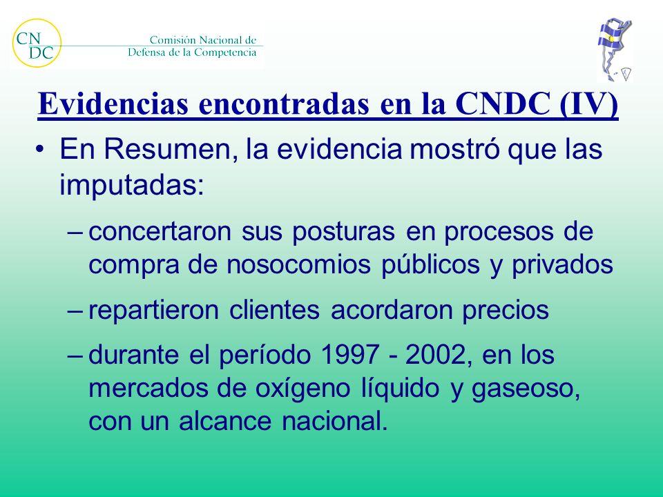 Evidencias encontradas en la CNDC (IV)