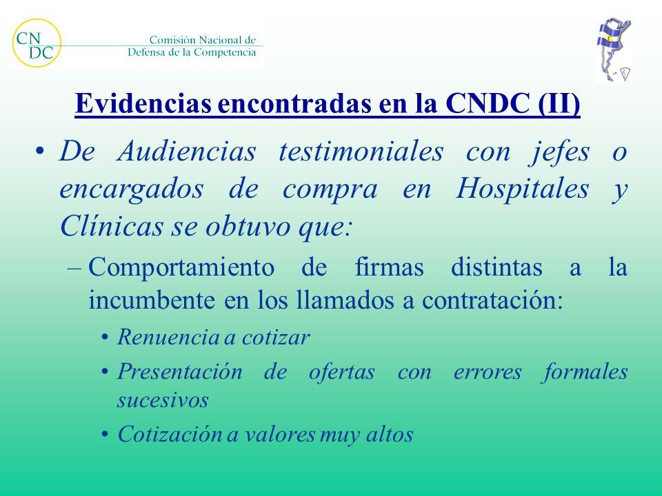 Evidencias encontradas en la CNDC (II)