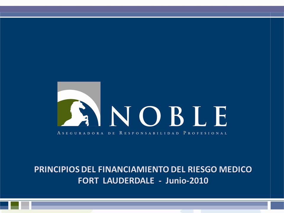 PRINCIPIOS DEL FINANCIAMIENTO DEL RIESGO MEDICO