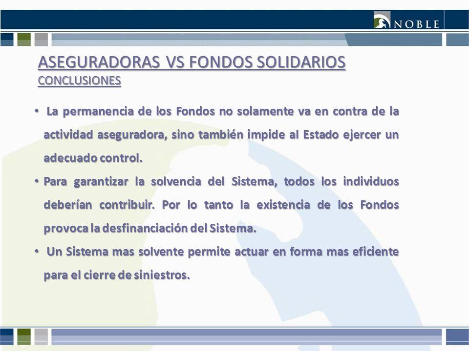 ASEGURADORAS VS FONDOS SOLIDARIOS CONCLUSIONES