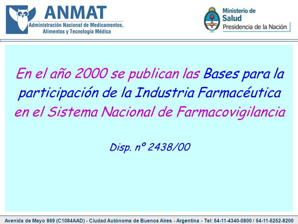 En el año 2000 se publican las Bases para la