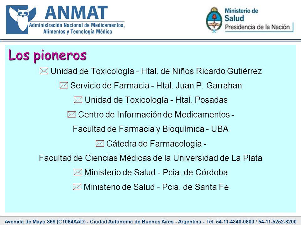 Los pioneros Unidad de Toxicología - Htal. de Niños Ricardo Gutiérrez