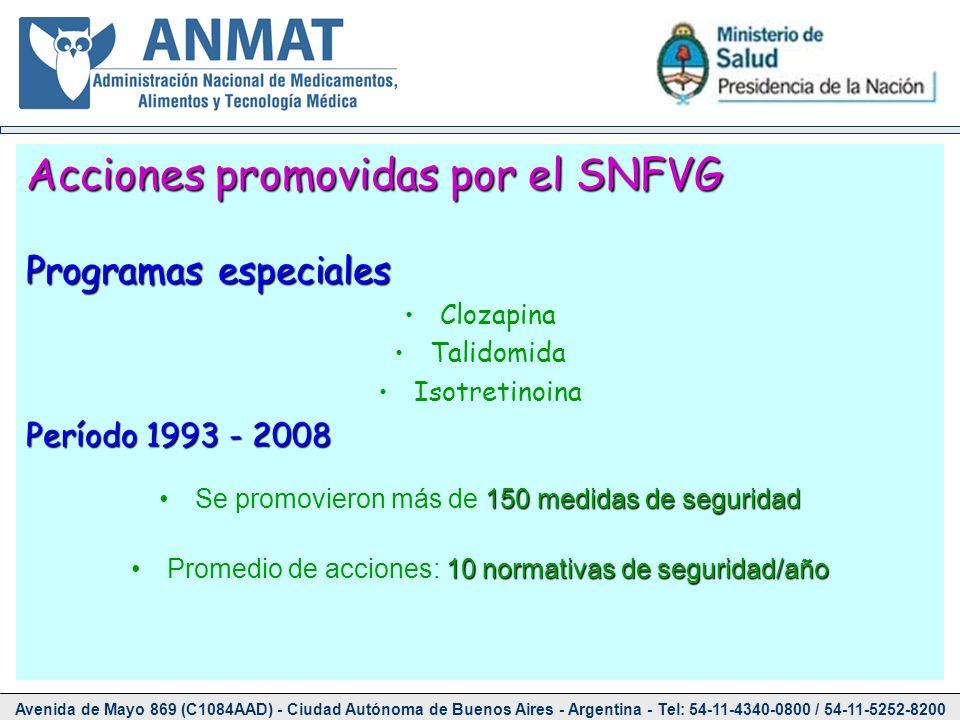 Acciones promovidas por el SNFVG