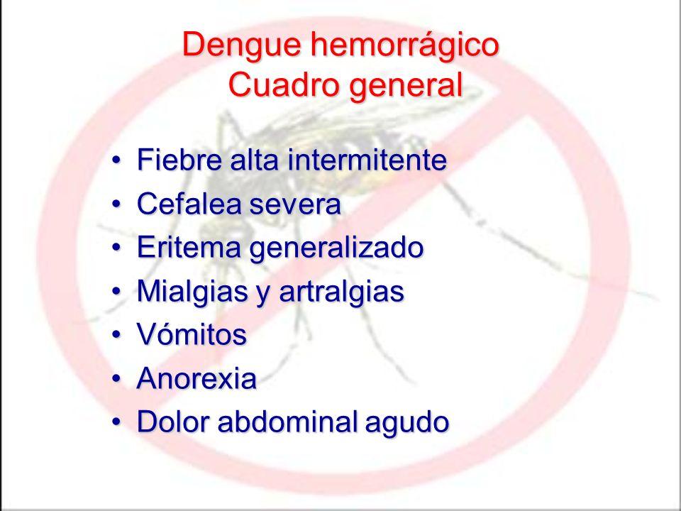 Dengue hemorrágico Cuadro general