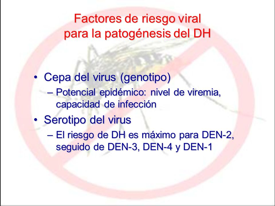 Factores de riesgo viral para la patogénesis del DH