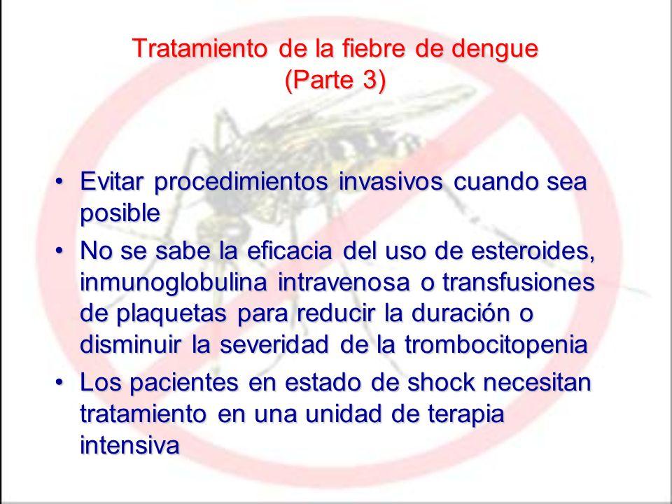 Tratamiento de la fiebre de dengue (Parte 3)