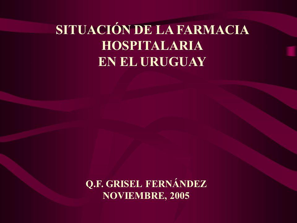 SITUACIÓN DE LA FARMACIA HOSPITALARIA