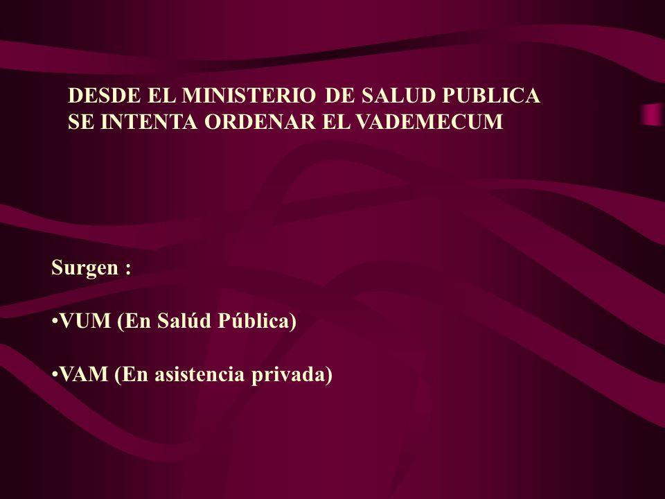 DESDE EL MINISTERIO DE SALUD PUBLICA