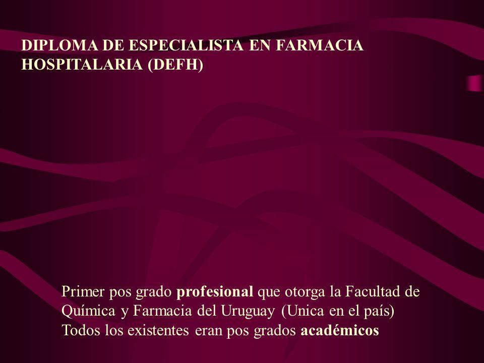 DIPLOMA DE ESPECIALISTA EN FARMACIA
