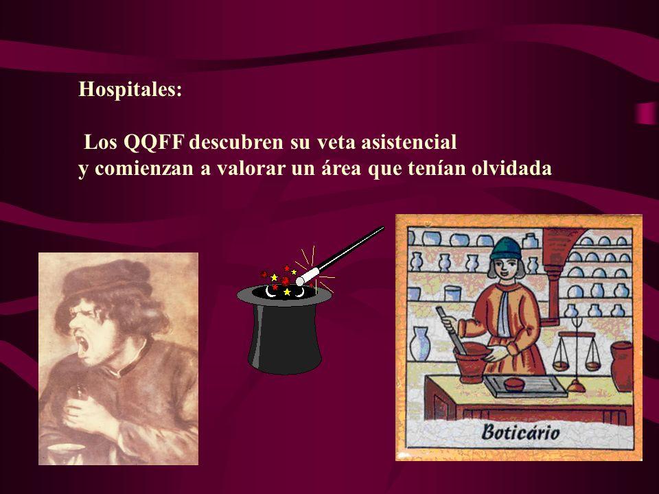 Hospitales: Los QQFF descubren su veta asistencial.