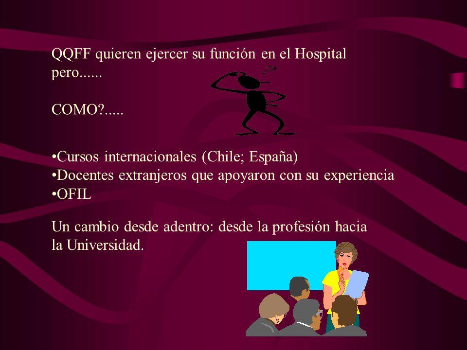 QQFF quieren ejercer su función en el Hospital