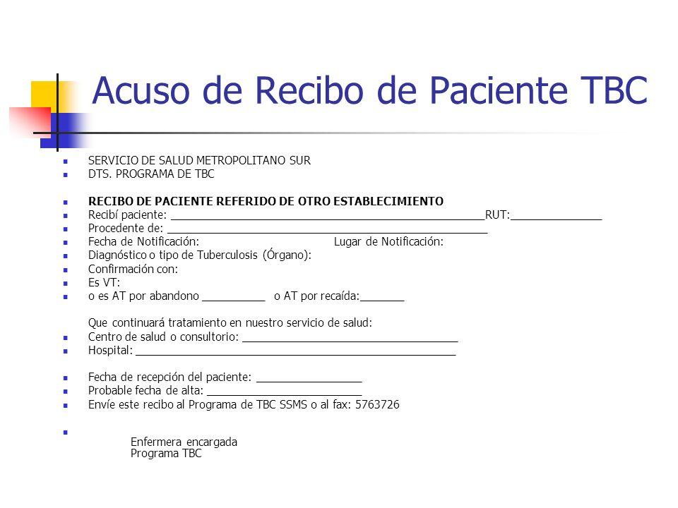 Acuso de Recibo de Paciente TBC