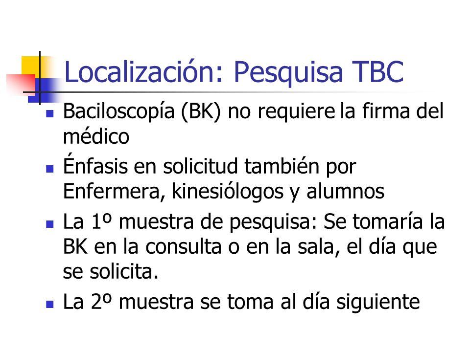 Localización: Pesquisa TBC