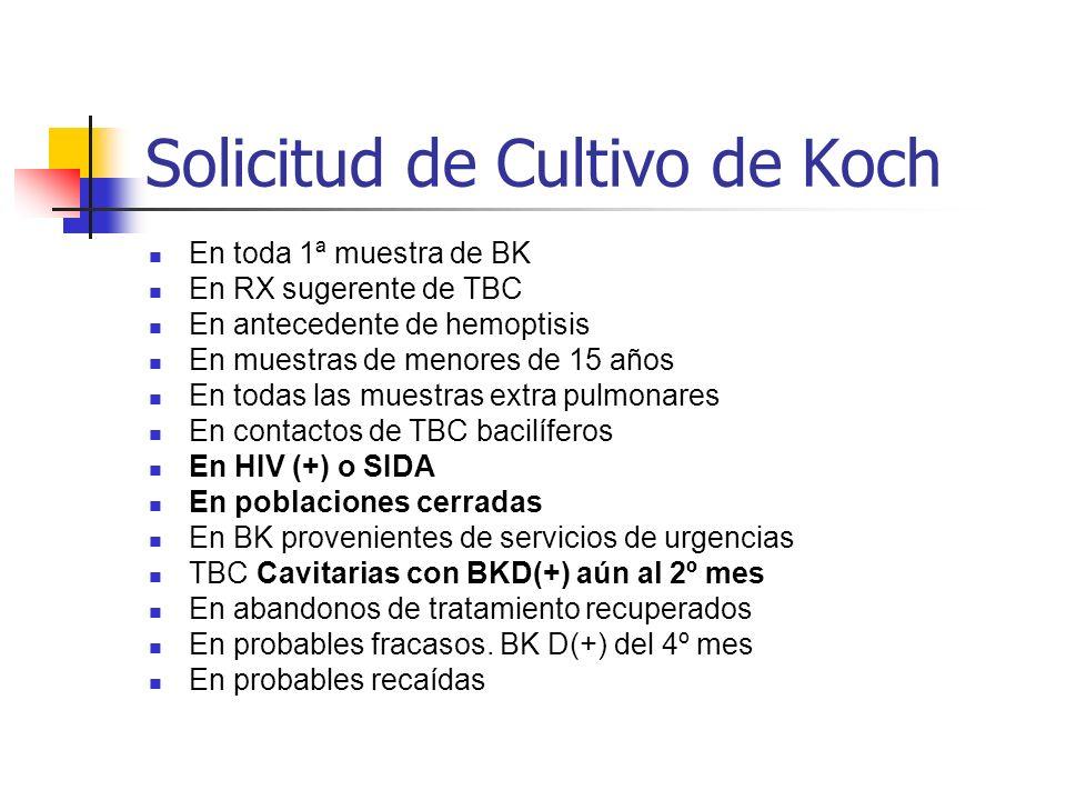 Solicitud de Cultivo de Koch