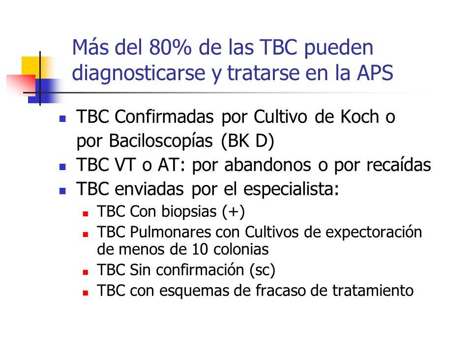 Más del 80% de las TBC pueden diagnosticarse y tratarse en la APS