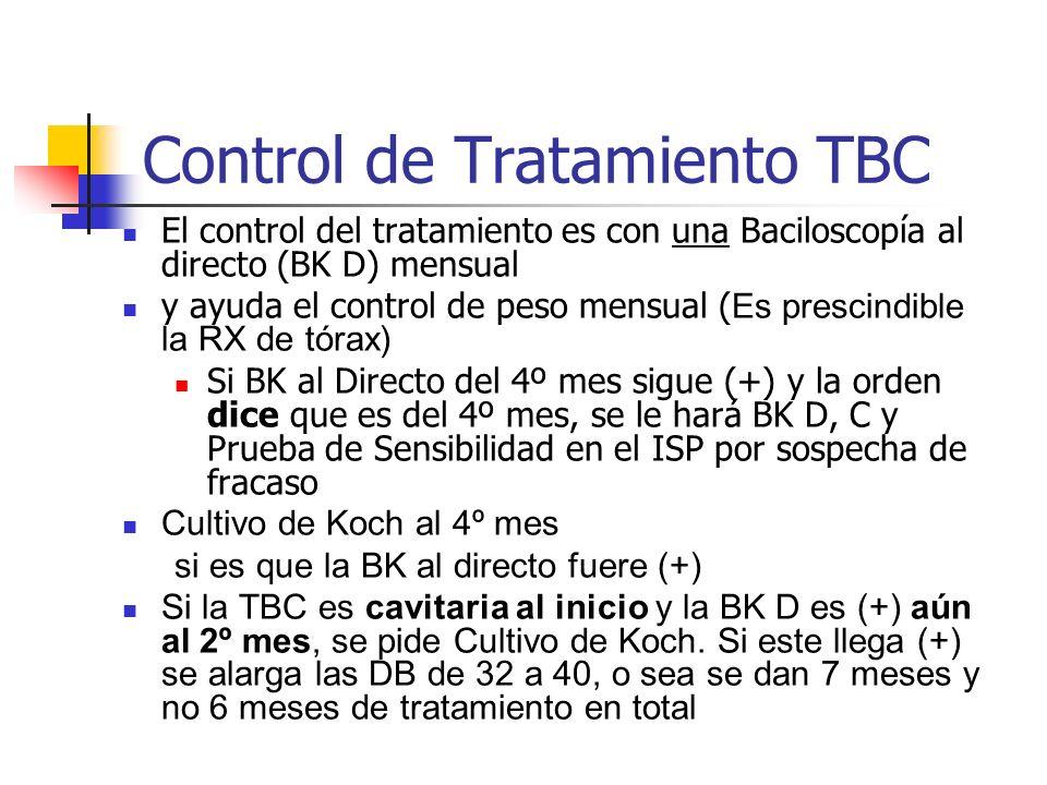 Control de Tratamiento TBC