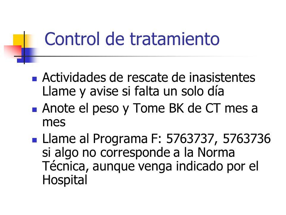 Control de tratamiento