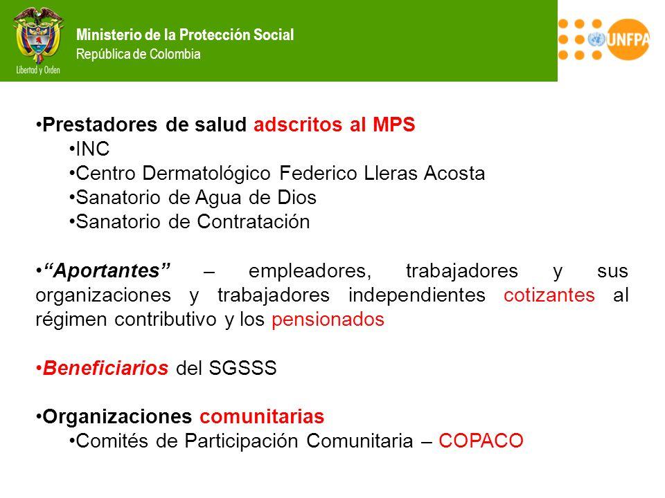 Prestadores de salud adscritos al MPS