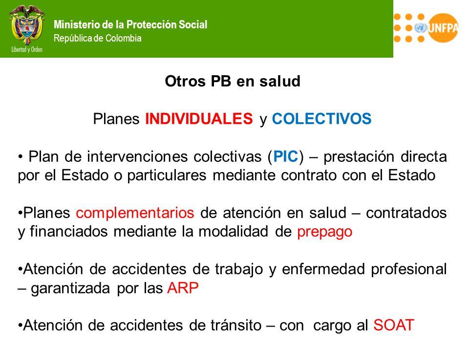 Planes INDIVIDUALES y COLECTIVOS