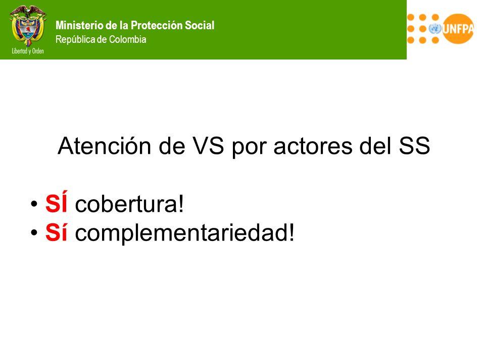 Atención de VS por actores del SS