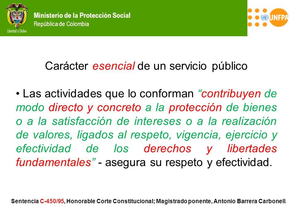 Carácter esencial de un servicio público