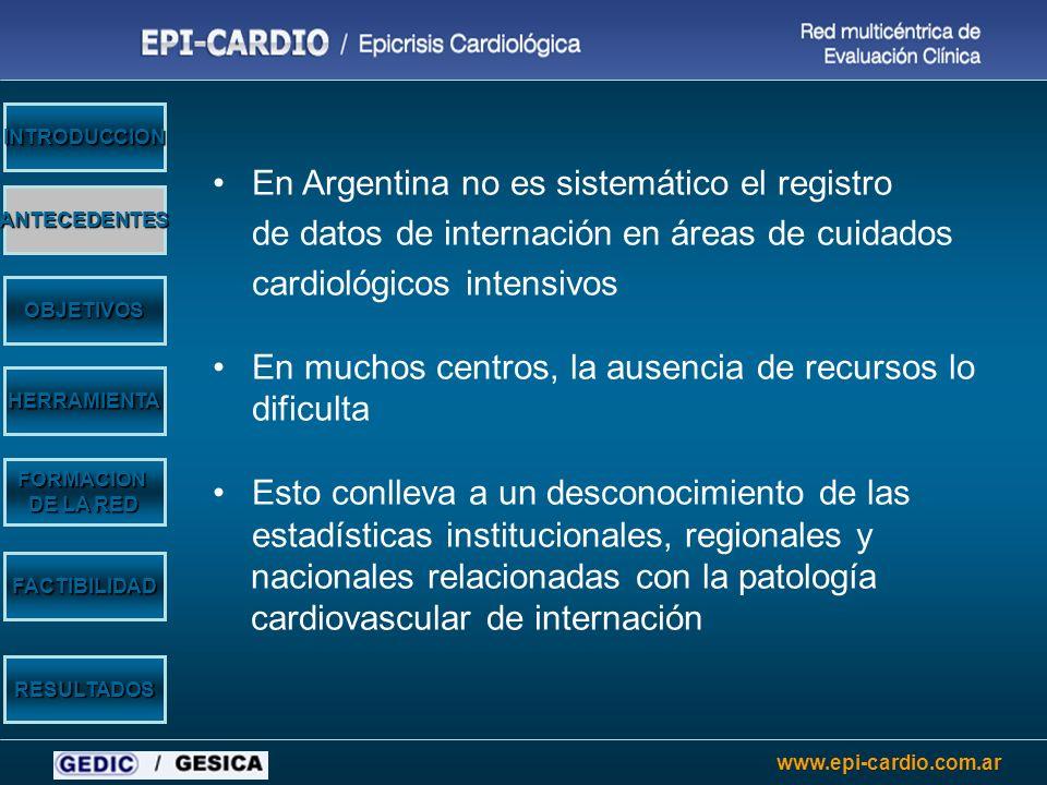 En Argentina no es sistemático el registro